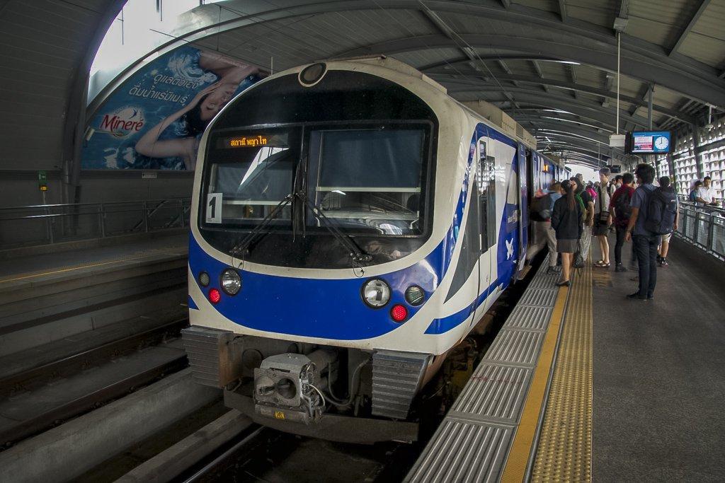 Bangkok Airport Railway Link, 8 Stations From Suvarnabhumi to Phaya Thai