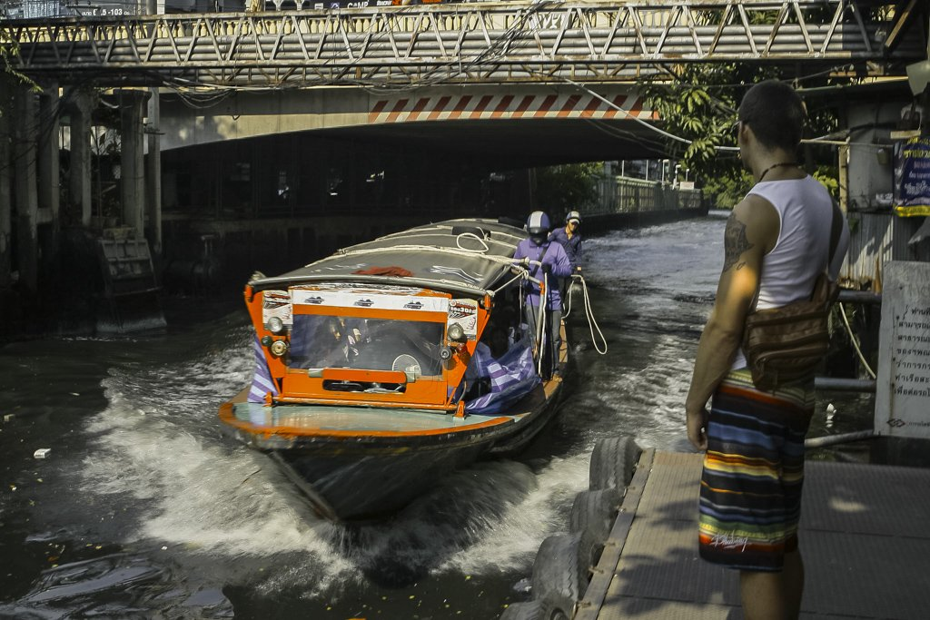 Canal Taxi Experience in Thailand, unique way and travel like a true local