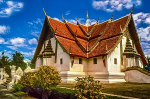 Wat Phumin In Nan built on the back of two gigantic stone snakes making is a architechtural marvel