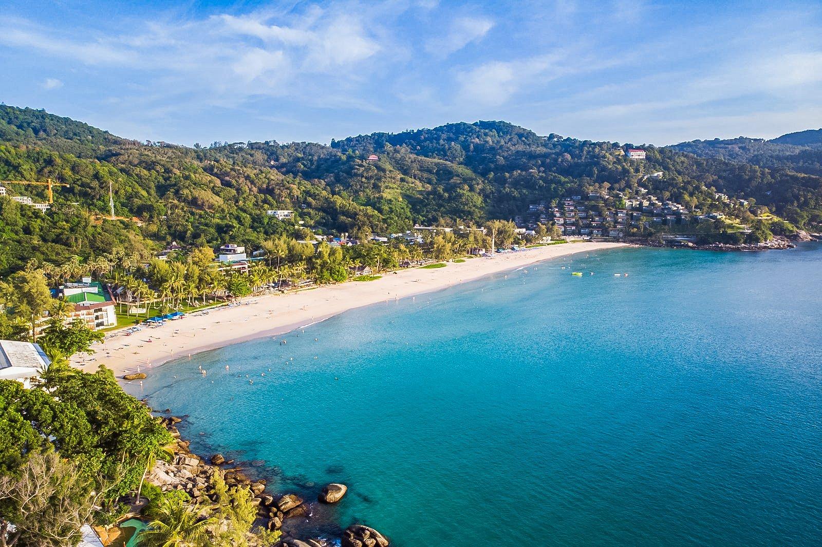 Kata Noi Beach is located on the southwest side of Phuket Island, Thailand.
