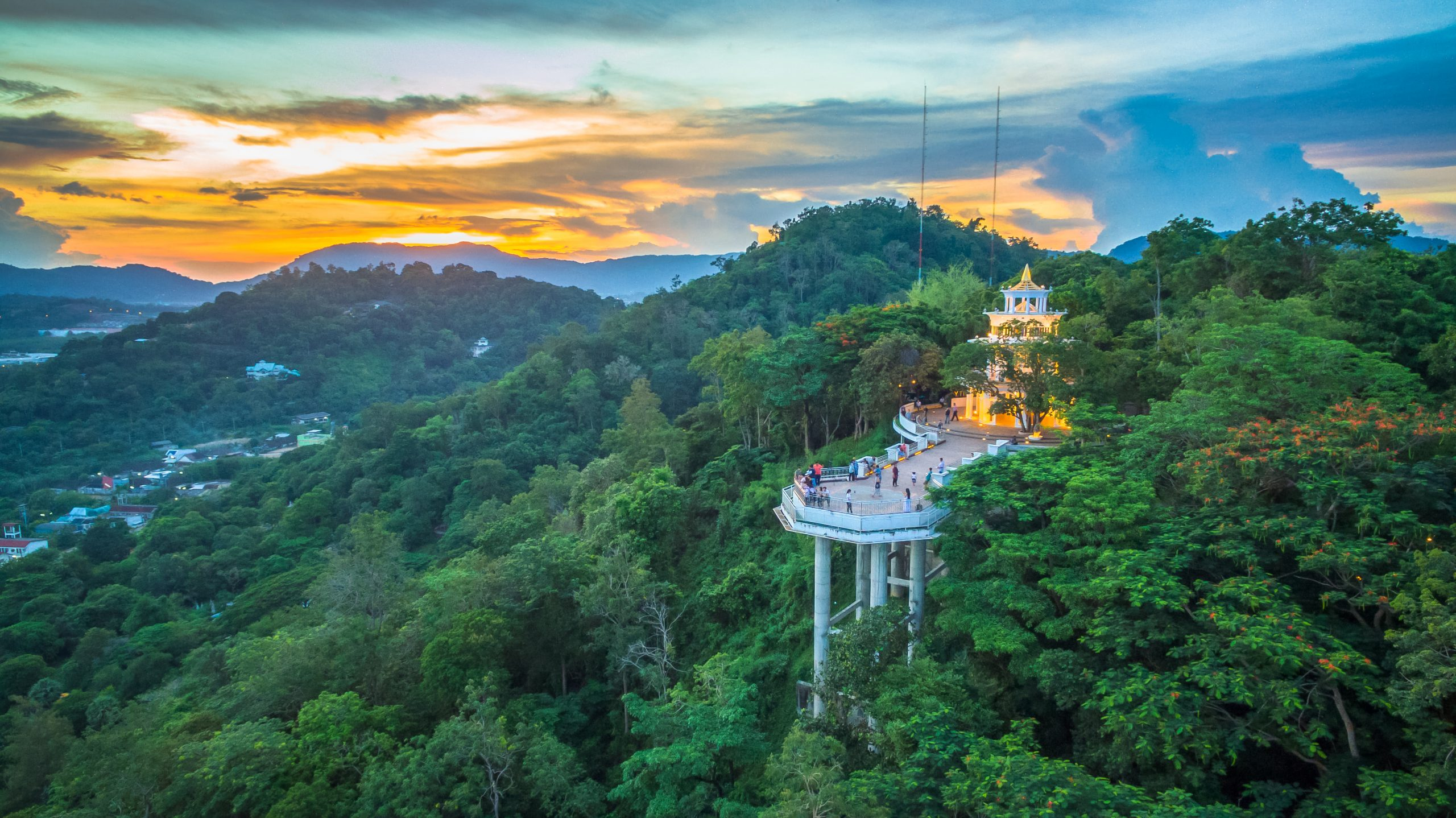 Khao Rang Viewpoint is of the best panorama viewpoint on the top of Rang Hill Phuket Thailand (also called Khao Rang).