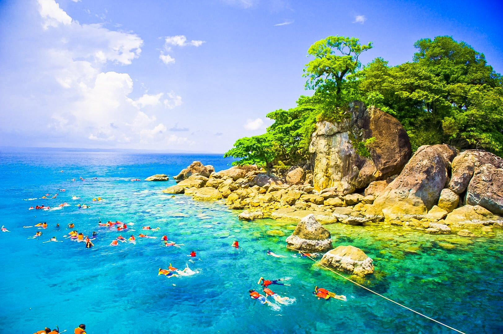 One of the largest Island in Thailand Koh Chang famous snorkeling.