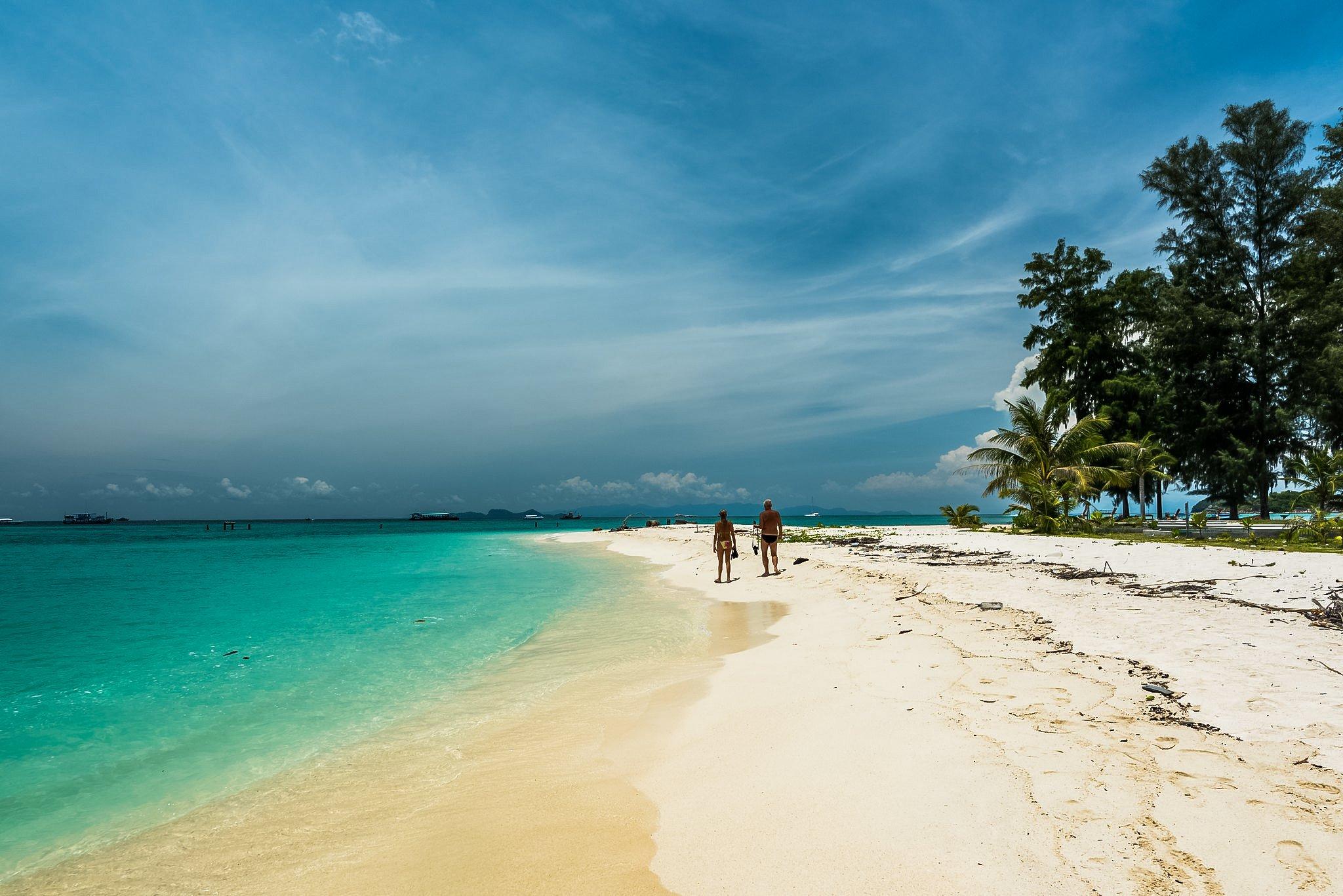 L-shaped Koh Lipe island in thailand.