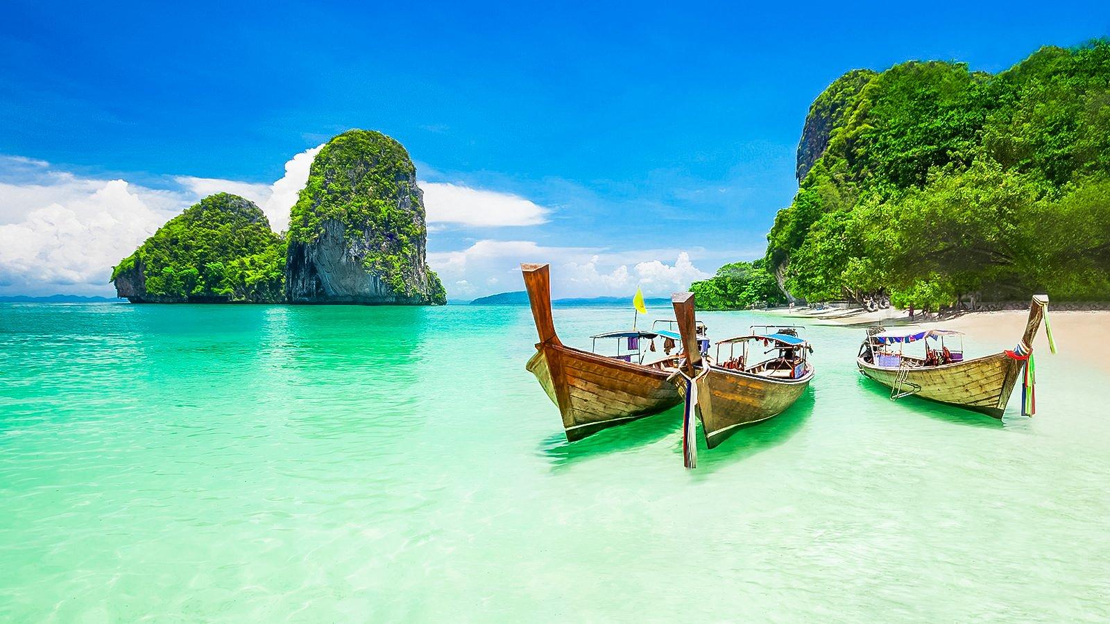 Krabi Beach in Thailand.