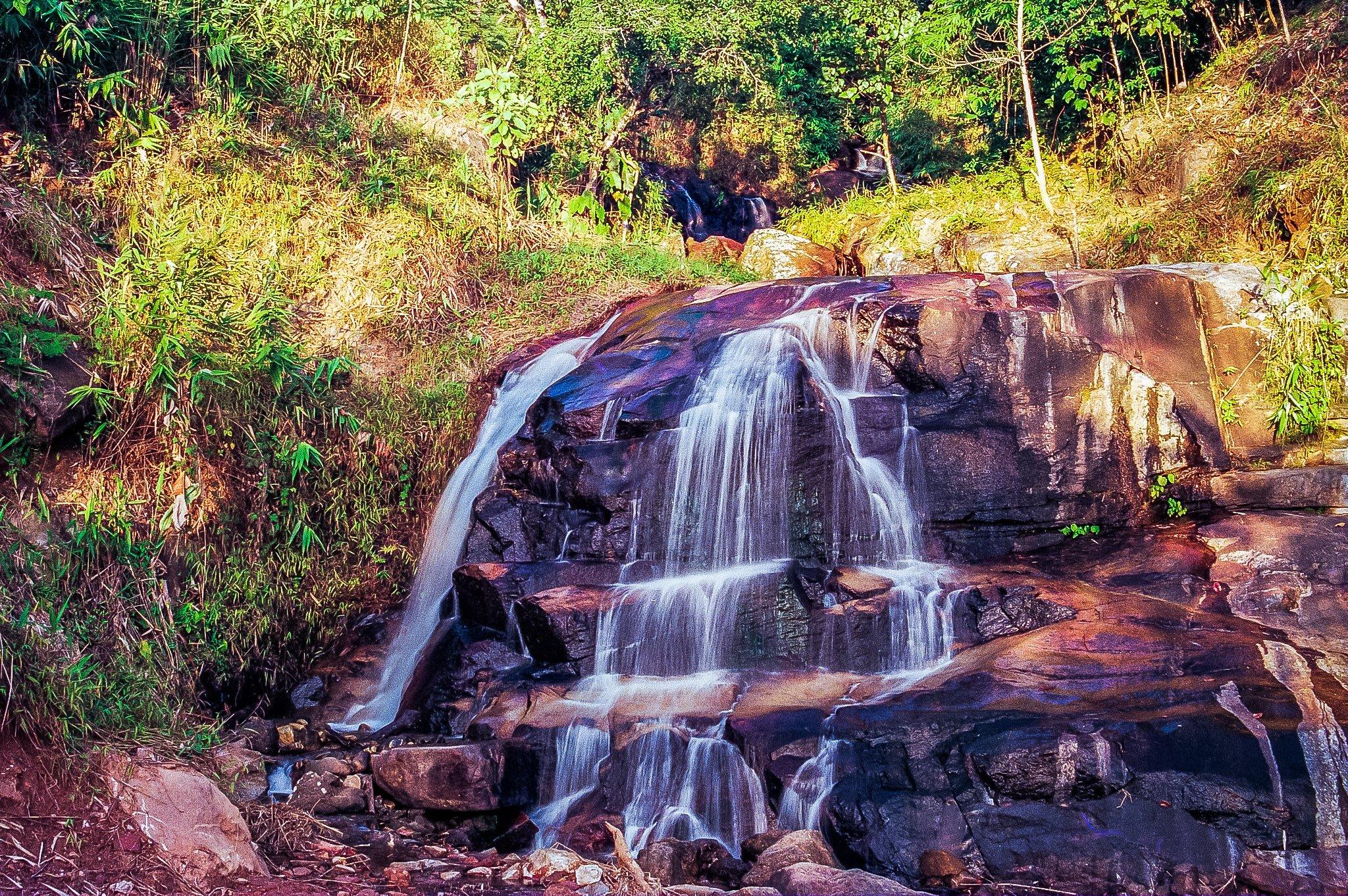 Beautiful Krathing Waterfall in Chanthaburi surround by Green forest.