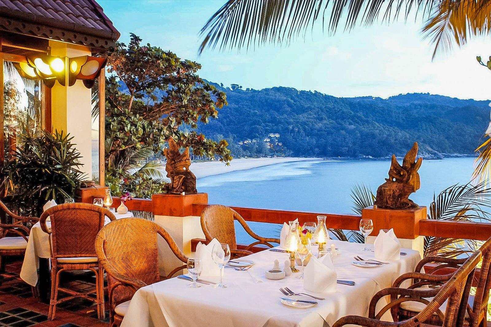 Mom Tri's Kitchen is part of the Villa Royale resort overlooking Kata Noi beach in Phuket, Thailand.