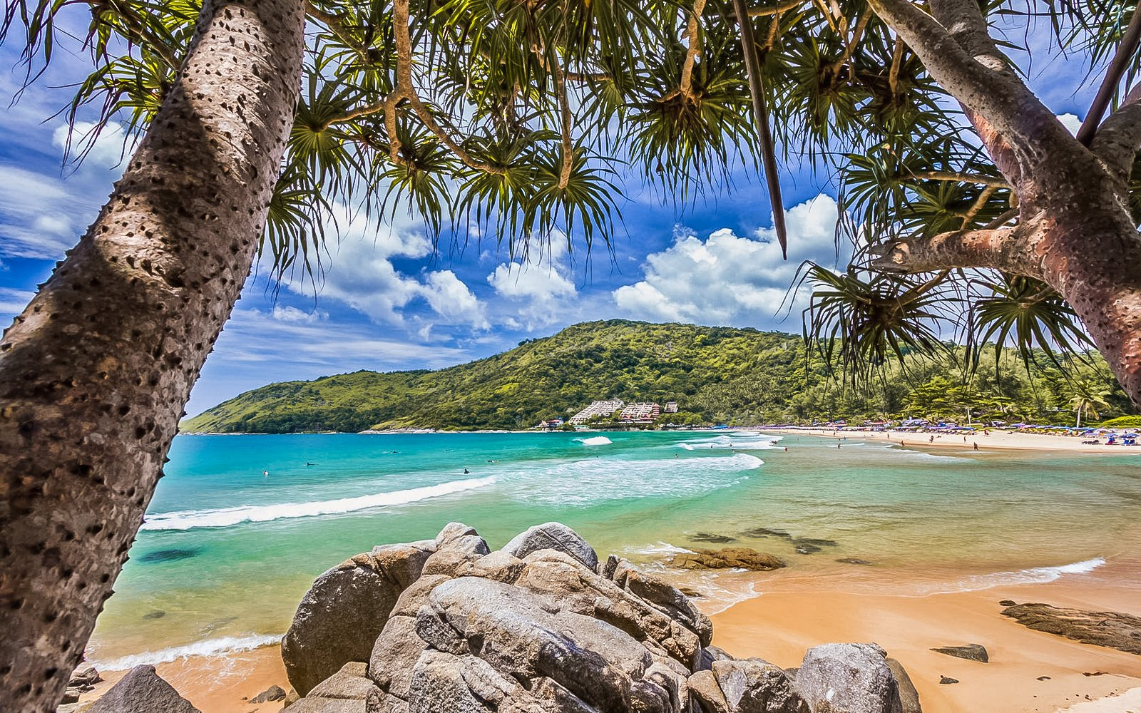 Nai Harn Beach is located in the south part of Phuket island in Thailand.