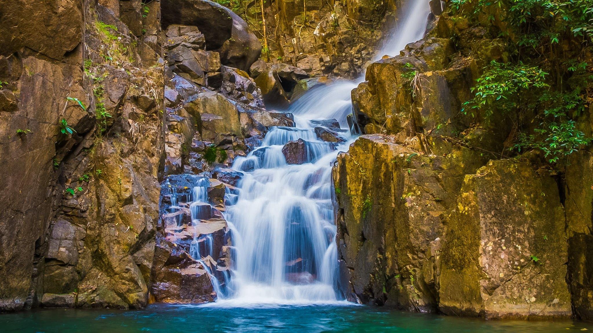 Philo waterfall at Namtok Phlio National Park , Phlio sub-district, Chanthaburi.