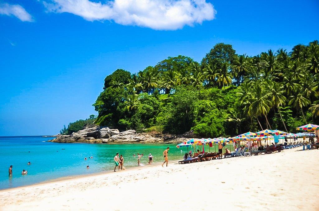 Surin Beach is the best spot for sunbathing in Phuket, Thailand.