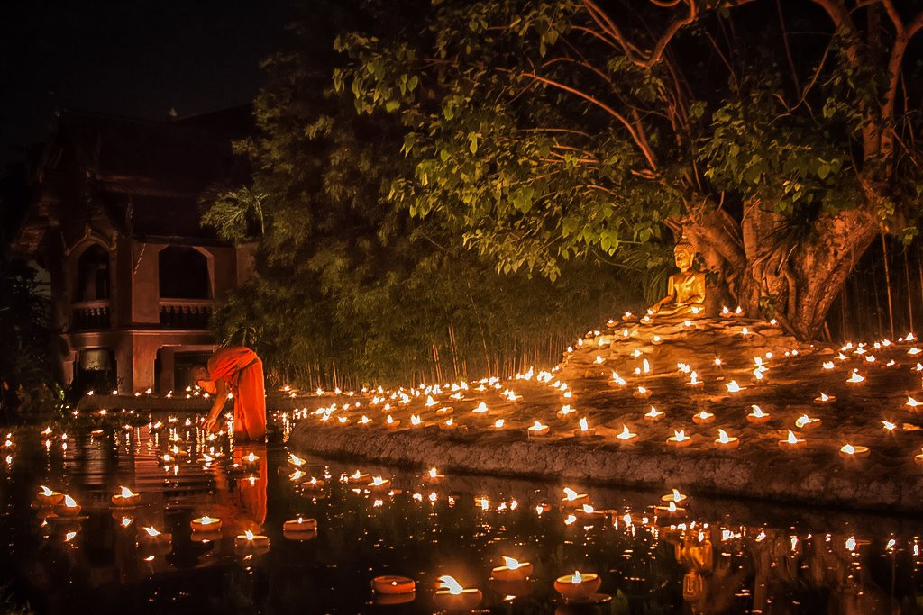 Visakha Bucha Festival is an important Thai Festival in Chang Mai.
