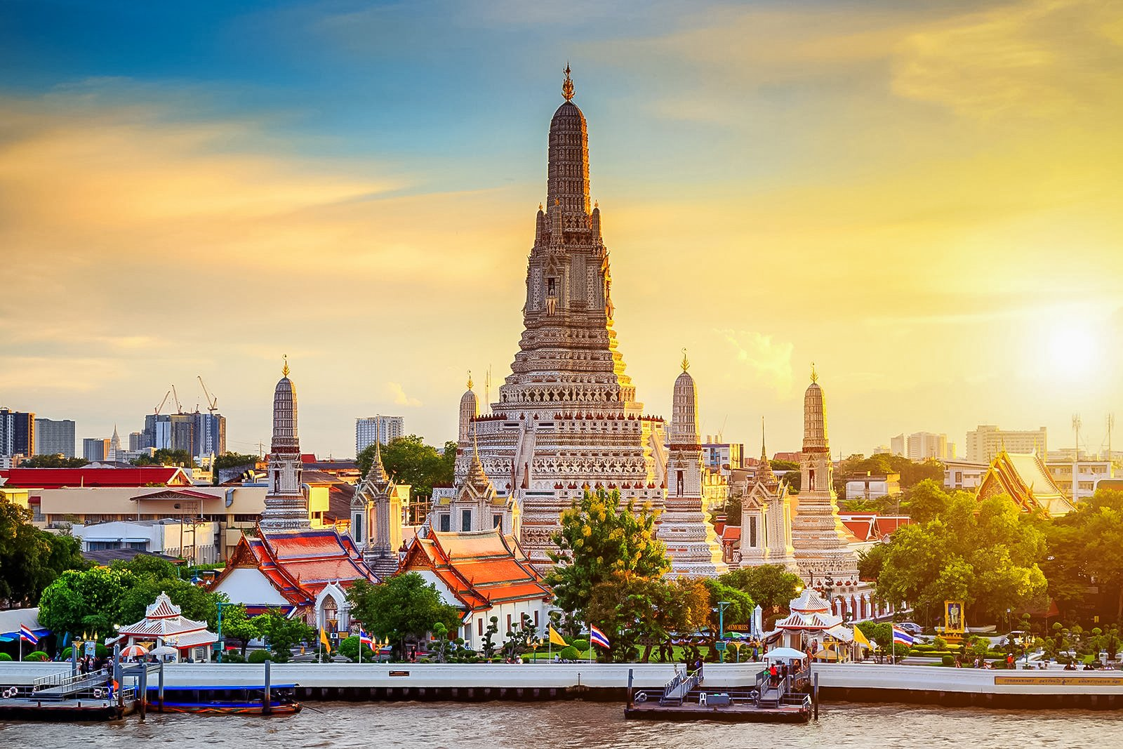 Wat Arun also called The Temple of Dawn and locally known as Wat Chaeng is located in Bangkok Thailand.