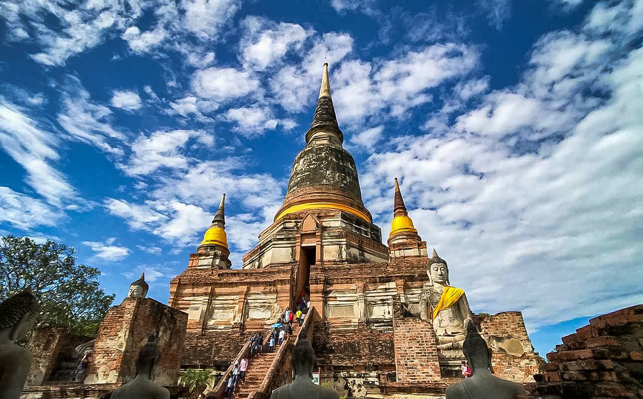 Wat Yai Chai Mongkol, Monastery of the Auspicious Victory located in Ayutthaya, Thailand.