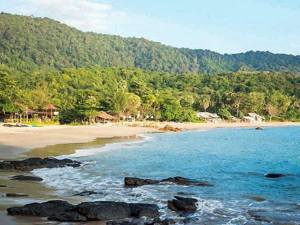 Ao Klong Jark nicknamed Waterfall Bay in Koh Lanta Thailand.