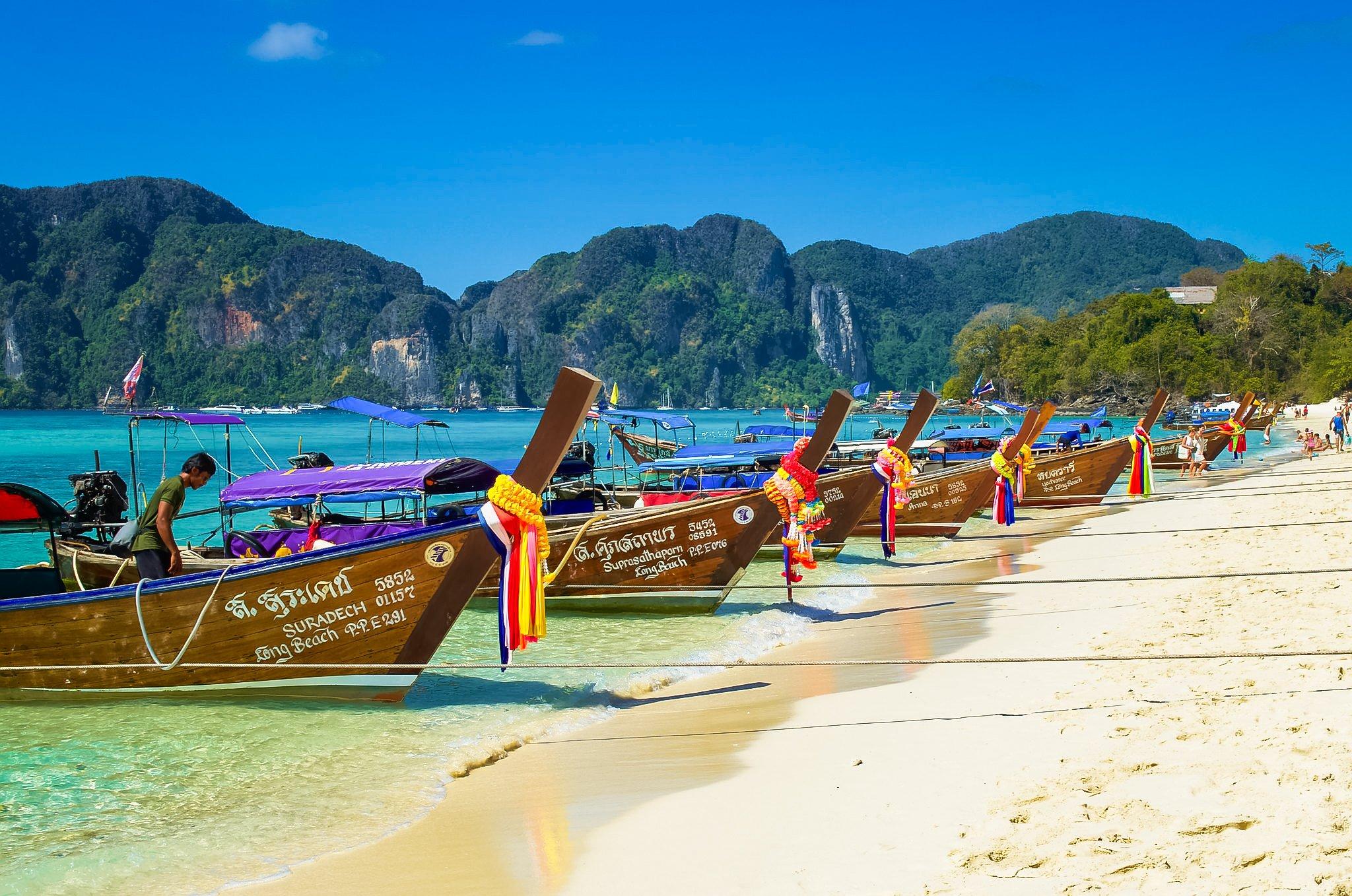 The Popular and Beautiful Koh Lanta Long Beach Koh Lanta,Thailand.